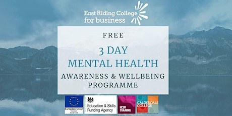 FREE 3 Day Mental Health Awareness & Wellbeing Programme tickets