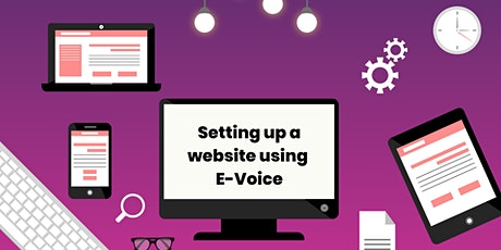 Setting up a website using E-Voice - Kingston tickets