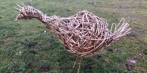 Willow Hen Sculpture