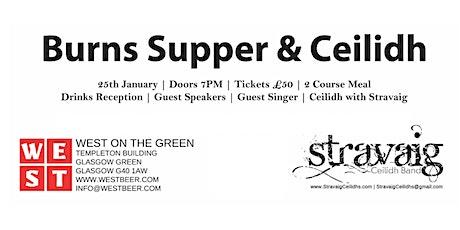 Stravaig:: Burns Supper and Ceilidh 2020 tickets