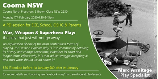 War Weapon & Superhero Play - in Cooma NSW