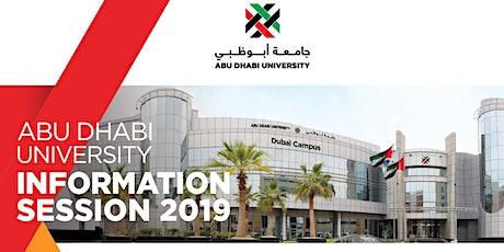 Abu Dhabi University Information Session Dubai 21 Dec tickets