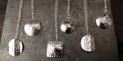 Matching silver necklace and earring making workshop