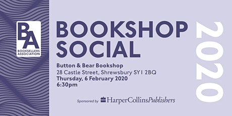 Booksellers Association Social - Button & Bear (Shrewsbury) tickets