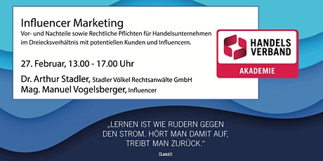 SEMINAR Influencer Marketing aus rechtlicher Perspektive  Tickets