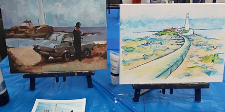 Paint and Sip Party Whitley Bay Masonic Hall tickets