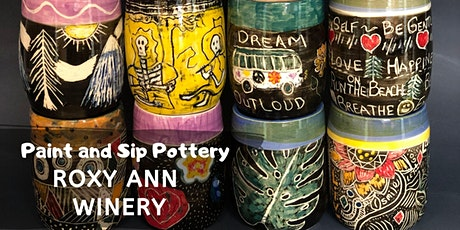 Paint and Sip Pottery at Roxy Ann Winery!  tickets