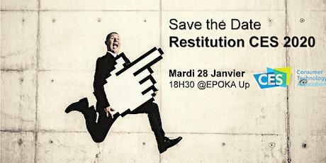 Restitution voyage CES 2020 tickets