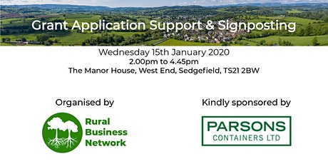 Grant Application Support & Signposting tickets