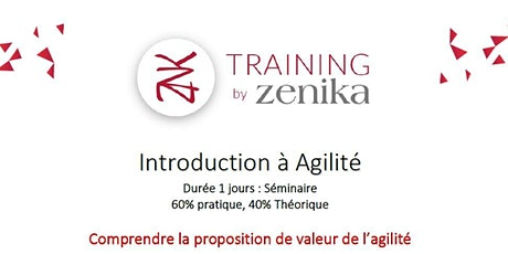 Formation : Introduction à Agilité  1 jr FR billets