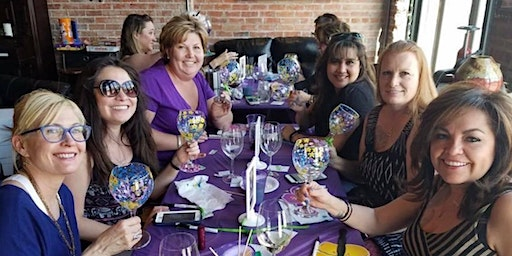Wine Glass Painting Party/Workshop at Cheval Winery 2/9 at 1pm.