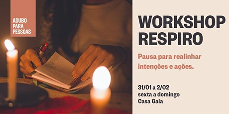 WORKSHOP RESPIRO ingressos
