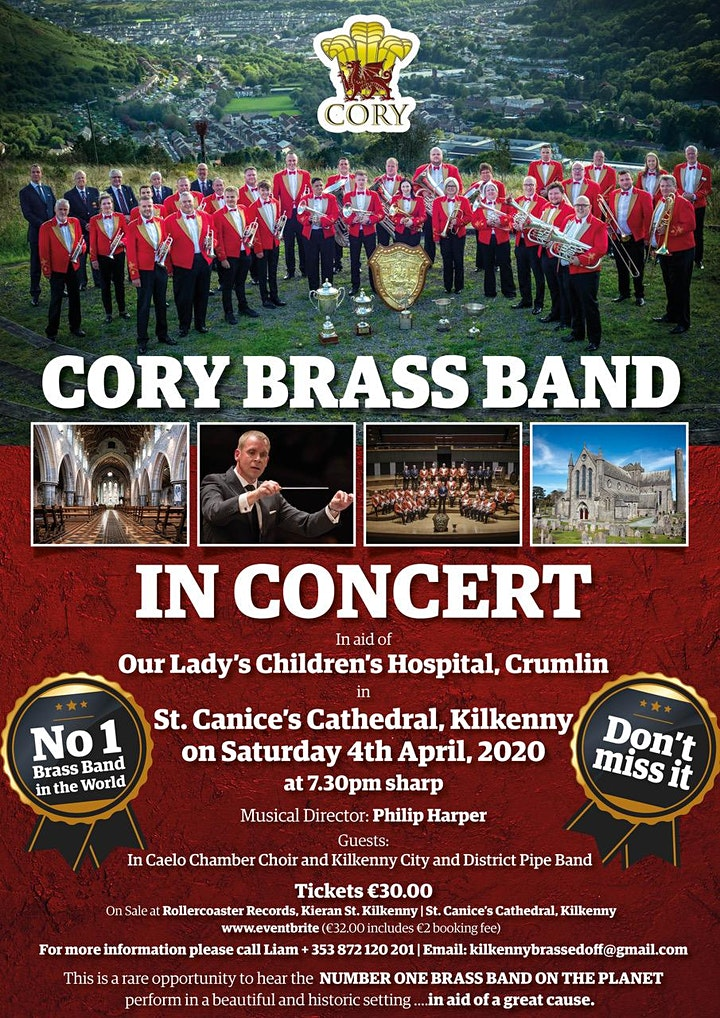"""""""Cory Brass Band"""" the pride of Wales  World No1 inConcert Kilkenny, Ireland image"""