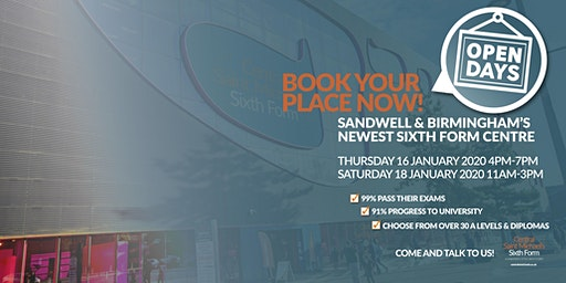 Central St Michael's Sixth Form Open Day