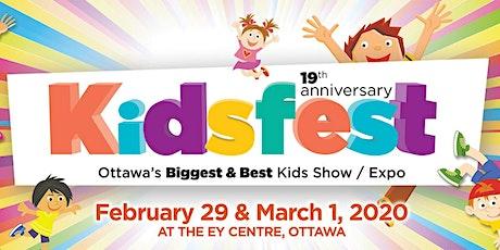 Kidsfest Ottawa 2020 tickets