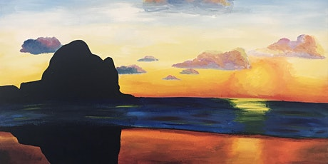 Paint & Wine, Piha Sunset at New Zealand House in collaboration with Kea NZ tickets