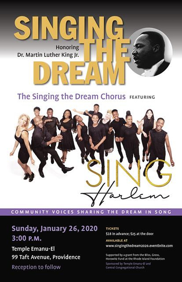 SINGING THE DREAM 2020,  HONORING DR. MARTIN LUTHER KING, JR. image