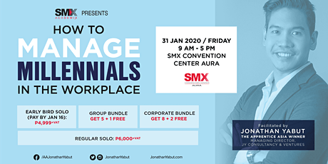 Leadership and Gen Y: How To Manage Millennials At Work with Jonathan Yabut tickets