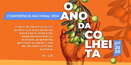 Conferência Nacional Vida 2020 - Ano da colheita ingressos