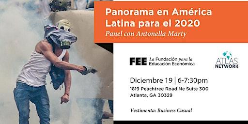 Panorama en América Latina para el 2020, con Antonella Marty. En Español.