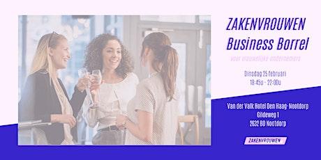Zakenvrouwen Business Borrel voor vrouwelijke ondernemers [Den Haag] tickets