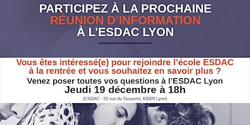 Réunion d'information ESDAC Lyon