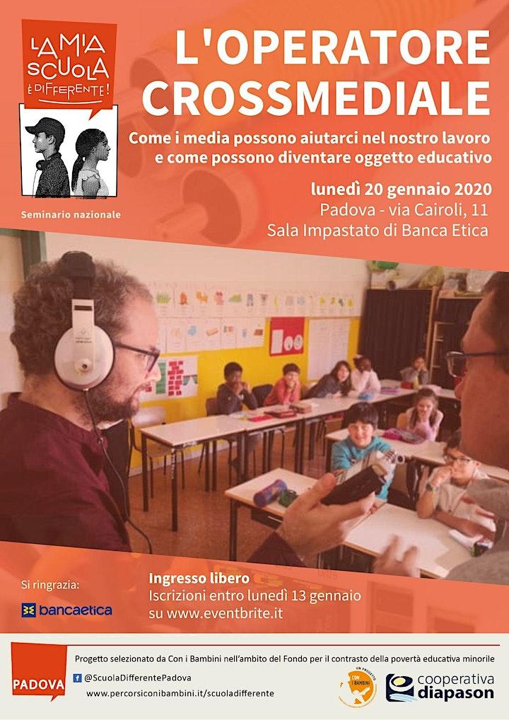 Immagine L'operatore crossmediale - Seminario La mia scuola è differente
