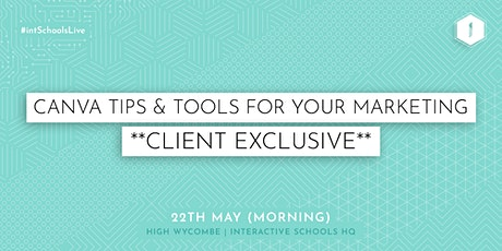CANVA Tips and Tools for your Marketing (Client-Exclusive) - Morning tickets
