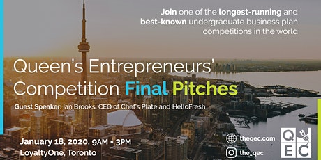 The QEC 2020 Final Pitches with Guest Speaker Ian Brooks (CEO, HelloFresh) tickets