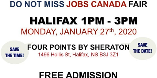 Halifax Job Fair – January 27th, 2020