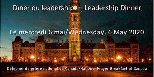 Leadership Dinner/Dîner du leadership