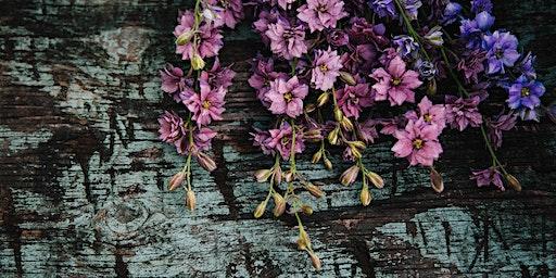 All-natural dried flower wreath workshop