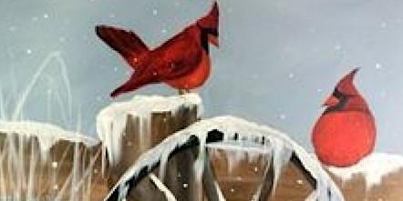 Cardinals and Wagon Wheel