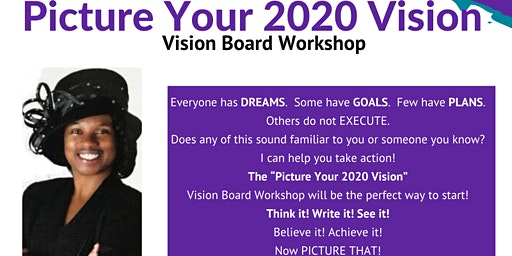 Picture Your Vision 2020 Vision Board  Workshop