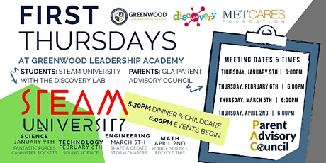 First Thursdays at Greenwood Leadership Academy tickets