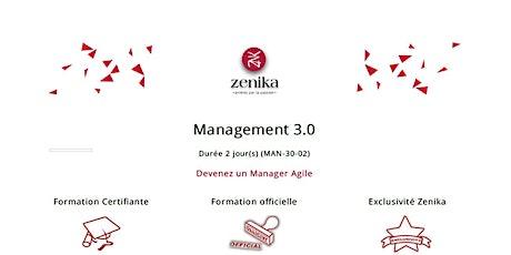 formation : Management 3.0 FR  2 jrs billets