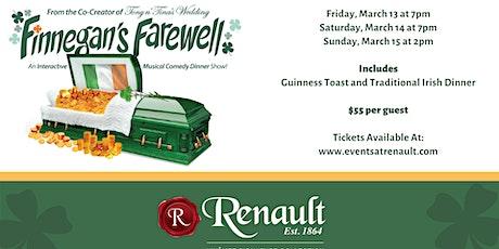 Finnegan's Farewell at Renault Winery Resort tickets