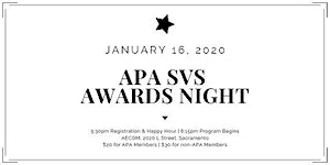 APA Sacramento Valley Section 2020 Awards Night