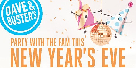 Dave and Busters Westbury 2020 Family New Years Eve Celebration 5pm-8pm tickets
