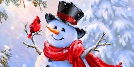 Night Snowman Paint night