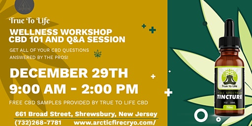 Wellness Workshop |CBD 101 and Q&A Session - Arctic Fire Cryotherapy Center