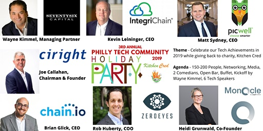 3rd Annual Philly Tech Community Holiday Party | Guest Speakers + CHARITY