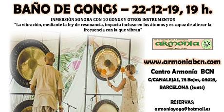 BAÑO DE GONGS entradas