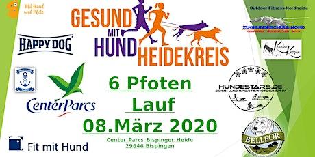 6 Pfoten Lauf - Gesund mit Hund Heidekreis- Center Parcs Bispinger Heide Tickets