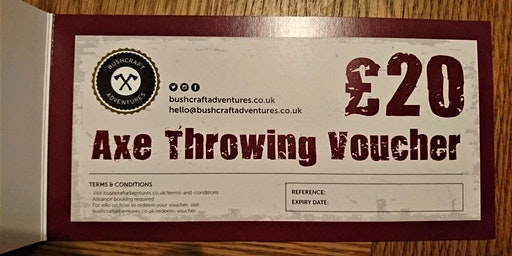Axe Throwing £20 Gift Voucher (posted to you)