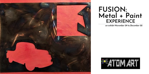 This is officially AtomArt's last event: Art Reception for FUSION