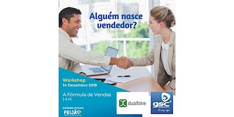 """Workshop """"A fórmula das vendas"""" bilhetes"""
