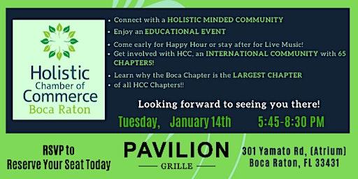 Boca Holistic Chamber JANUARY Event