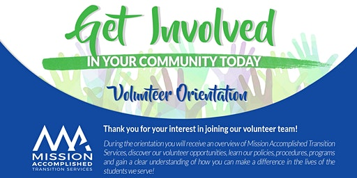 Volunteer Orientation - January 16