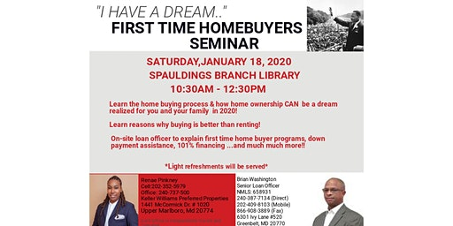"""""""I Have A Dream ..."""" First Time Home Buyers Seminar"""